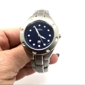 Ladies Fossil Blue Model 3320 Stainless Watch